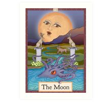 The Moon Card Cryptozoology Tarot  Art Print