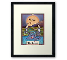 The Moon Card Cryptozoology Tarot  Framed Print