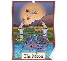 The Moon Card Cryptozoology Tarot  Poster