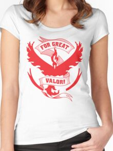 For Great Valor! Women's Fitted Scoop T-Shirt