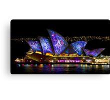 Galactic Sails - Sydney Vivid Festival - Australia Canvas Print