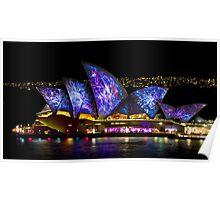 Galactic Sails - Sydney Vivid Festival - Australia Poster