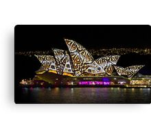 Snake Sails - Sydney Vivid Festival - Australia Canvas Print