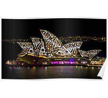 Snake Sails - Sydney Vivid Festival - Australia Poster
