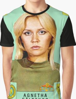 Agnetha Faltskog from Abba retro football team design!~ Graphic T-Shirt