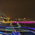 Circular Quay - Sydney Harbour - Vivid Festival - Australia by Bryan Freeman