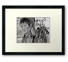 Charcoal Portrait - The Walking Dead (Daryl) Framed Print