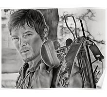 Charcoal Portrait - The Walking Dead (Daryl) Poster
