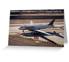 San Diego, Airbus A320-231 preparing for takeoff Greeting Card