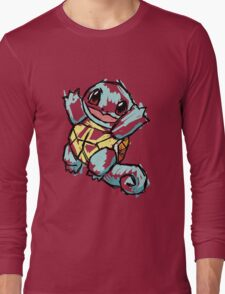 #007 Squirtle Illustration Long Sleeve T-Shirt
