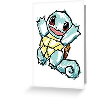 #007 Squirtle Illustration Greeting Card