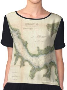 Vintage Map of The Neuse River (1874)  Chiffon Top