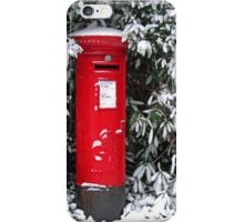 Pillar Box in the Snow iPhone Case/Skin