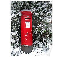 Pillar Box in the Snow Poster
