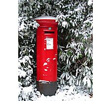 Pillar Box in the Snow Photographic Print