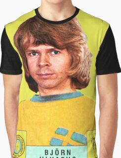 Bjorn Ulvaeus from Abba retro football team design!~ Graphic T-Shirt