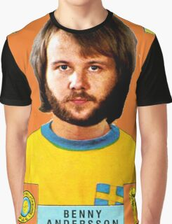 Benny Andersson from Abba retro football team design!~ Graphic T-Shirt