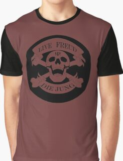 Live Freud, Die Jung (Crossbones) Graphic T-Shirt