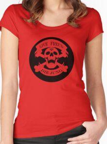 Live Freud, Die Jung (Crossbones) Women's Fitted Scoop T-Shirt
