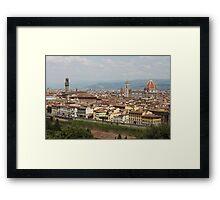 Florence Skyline Framed Print