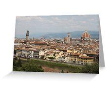Florence Skyline Greeting Card