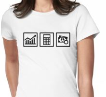 Tax consultant icons Womens Fitted T-Shirt