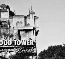 Hollywood Tower Hotel (Black & White) Sticker