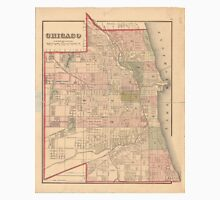 Vintage Map of Chicago Illinois (1876) Unisex T-Shirt