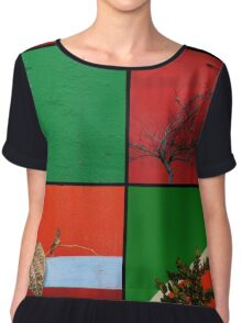 Urban Nature Collage Chiffon Top