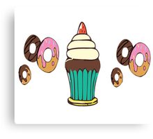 Donuts and Cupcakes Canvas Print