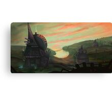 Sunset over The Bloo Canvas Print