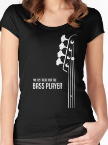 I'm Just Here for the Bass Player Tee - Bass Guitarist - Bassist Women's Fitted Scoop T-Shirt