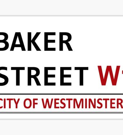 Baker Street Sign Sticker