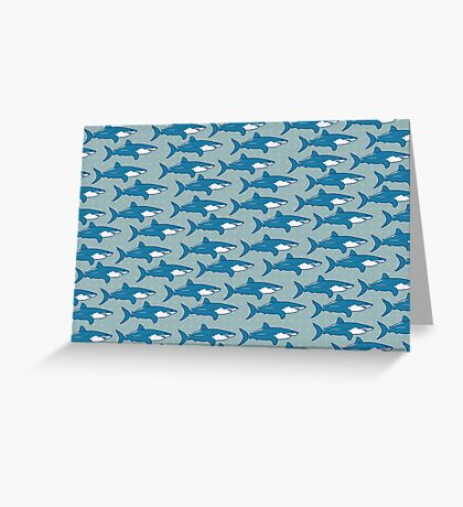 Shark infested Greeting Card