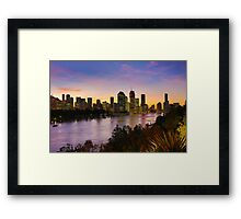 Brisbane City View from Kangaroo Point Cliffs 2 Framed Print