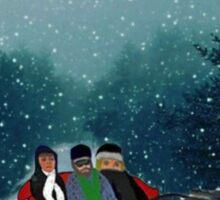Dashing Through The Snow Sticker