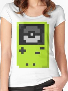Gameboy color lime Women's Fitted Scoop T-Shirt