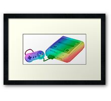 Rainbow SNES (Super Nintendo Entertainment System) Framed Print