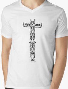 Tribal graffiti cross Mens V-Neck T-Shirt
