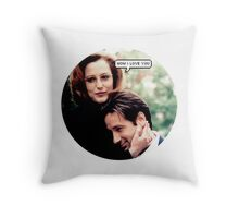 """Gillovny - """"Wow I love you"""" Throw Pillow"""