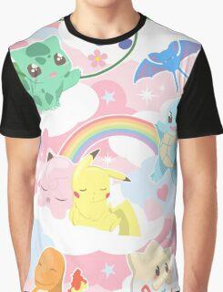 Cute Pokemon Graphic T-Shirt