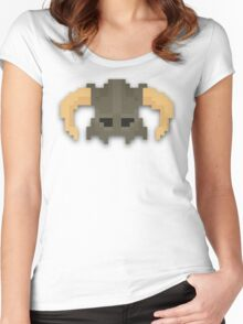 Dovakhiin 8bit Women's Fitted Scoop T-Shirt