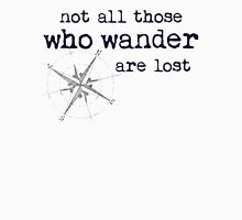 Not all those who wander are lost - JRR Tolkien  Women's Fitted Scoop T-Shirt
