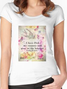 Whimsical cute  Emily Bronte quote - Wuthering Heights Women's Fitted Scoop T-Shirt
