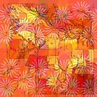 Abstract Shapes Over Daisies: Maps & Apps Series by Dana Roper