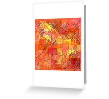 Abstract Shapes Over Daisies: Maps & Apps Series Greeting Card