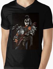 Gene Simmons of Kiss Painting Mens V-Neck T-Shirt