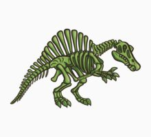 Neon Spinosaurus Skeleton One Piece - Short Sleeve