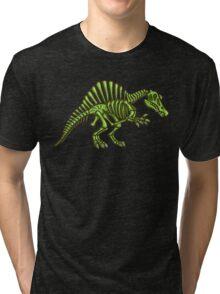 Neon Spinosaurus Skeleton Tri-blend T-Shirt