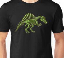 Neon Spinosaurus Skeleton Unisex T-Shirt